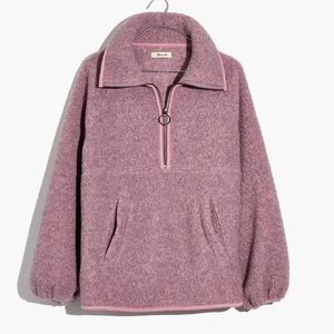Madewell Fleece Half-Zip Jacket NWT XS